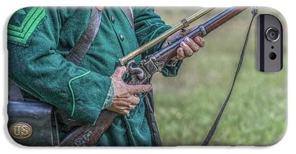 Battle Of Gettysburg Digital iPhone Cases - Sharpshooter iPhone Case by Randy Steele