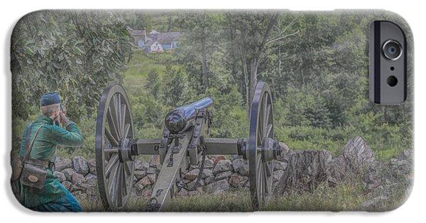 Battle Of Gettysburg Digital iPhone Cases - Sharpshooters Duel iPhone Case by Randy Steele