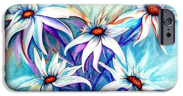 Cheer On iPhone Cases - Shasta Daisy dance iPhone Case by Janine Riley