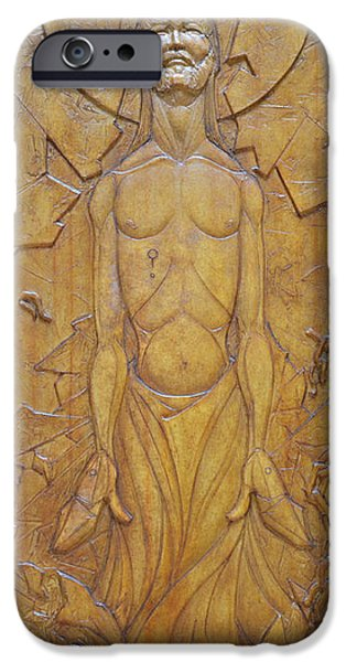Religious Reliefs iPhone Cases - Shatter - Ascendant Redemption iPhone Case by Jeremiah Welsh