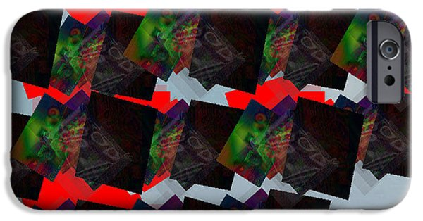 Abstract Digital Art iPhone Cases - Shattered Canvas iPhone Case by Jimi Bush