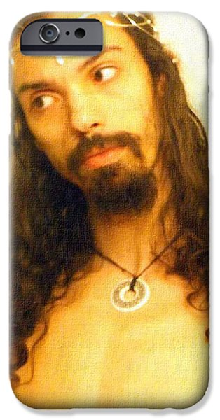 Divine Mercy iPhone Cases - Shawn Dall - Artist Self Portrait iPhone Case by Shawn Dall