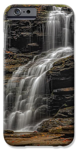 Foliage iPhone Cases - Shawnee Falls iPhone Case by Susan Candelario