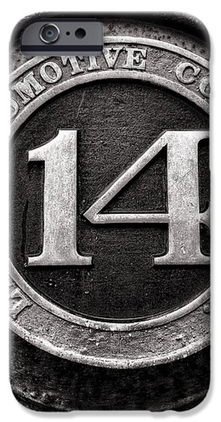 Shay 14 Lima Locomotive Number Plate iPhone Case by Ken Smith