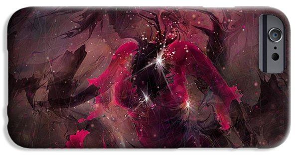 Torment iPhone Cases - She is the Storm iPhone Case by Rachel Christine Nowicki