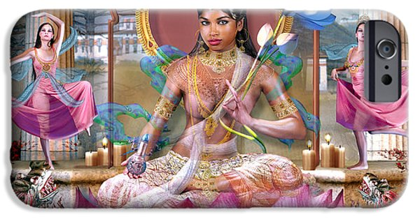 Recently Sold -  - Hindu Goddess iPhone Cases - She of 16 Years and Who Tames Ghosts iPhone Case by Wordmarque Design and Photography