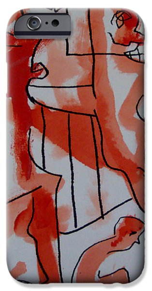 she was fed to death  by animals 2009 iPhone Case by Sir Josef  Putsche