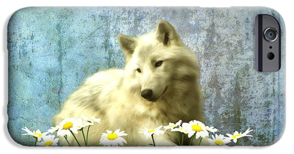 Wolf Digital Art iPhone Cases - She Wolf iPhone Case by Sharon Lisa Clarke