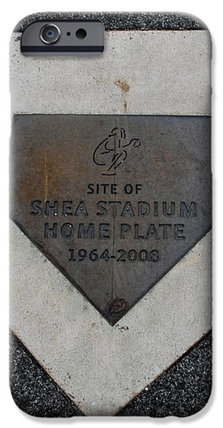 SHEA STADIUM HOME PLATE iPhone Case by ROB HANS