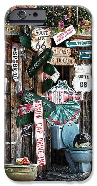 Shed toilet bowls and plaques in Seligman iPhone Case by RicardMN Photography