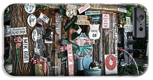 Sheds iPhone Cases - Shed toilet bowls and plaques in Seligman iPhone Case by RicardMN Photography
