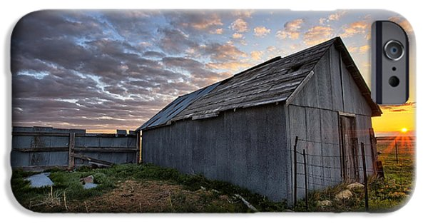 Shed iPhone Cases - Shedded Rising iPhone Case by Thomas Zimmerman