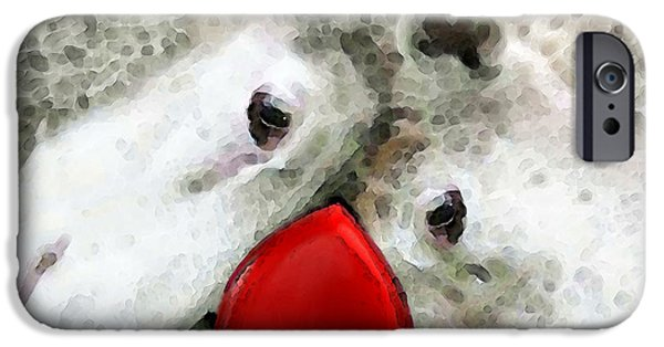 Animals Love iPhone Cases - Sheep Art - For Life iPhone Case by Sharon Cummings