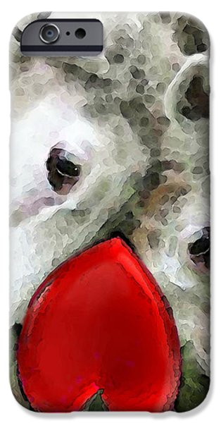 Sheep Art - For Life iPhone Case by Sharon Cummings
