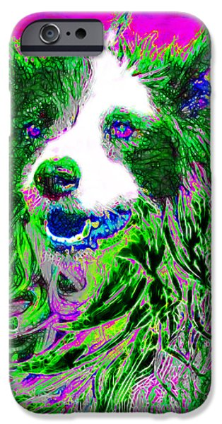 Puppy Digital iPhone Cases - Sheep Dog 20130125v2 iPhone Case by Wingsdomain Art and Photography