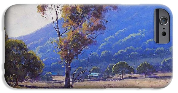 Rural iPhone Cases - Sheep Farm Tarana iPhone Case by Graham Gercken