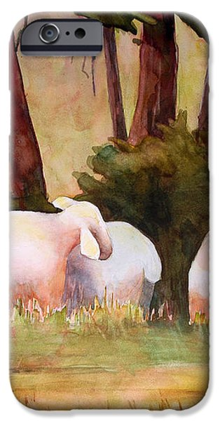 Sheep in the Meadow iPhone Case by Blenda Studio
