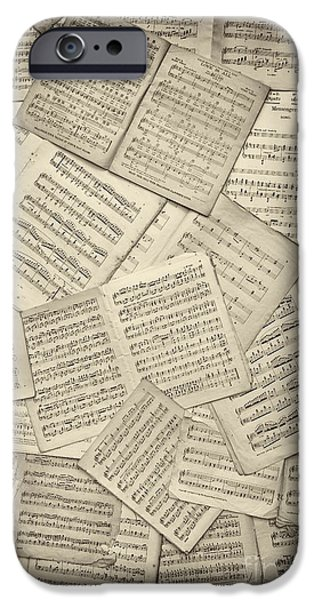Classical iPhone Cases - Sheet Music iPhone Case by Tim Gainey