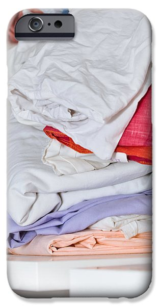 Bed Linens iPhone Cases - Sheets iPhone Case by Tom Gowanlock