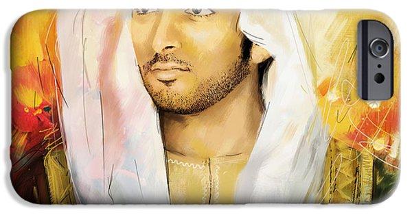 Ruler iPhone Cases - Sheikh Hamdan Bin Mohammed iPhone Case by Corporate Art Task Force
