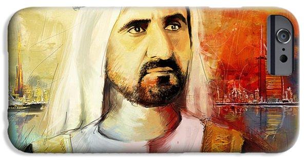 Ruler iPhone Cases - Sheikh Mohammed bin Rashid Al Maktoum iPhone Case by Corporate Art Task Force