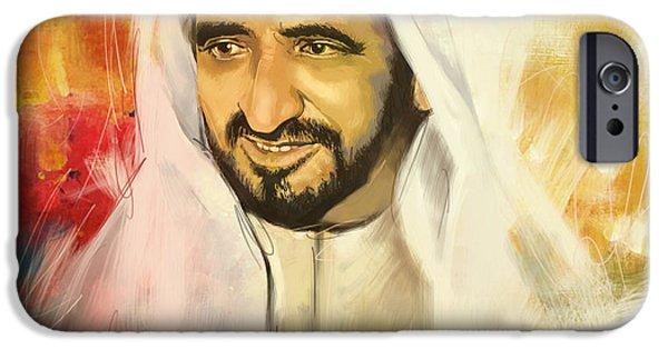 Bins iPhone Cases - Sheikh Rashid bin Saeed Al Maktoum iPhone Case by Corporate Art Task Force