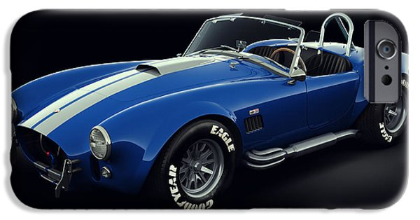 Best Sellers -  - Old Cars iPhone Cases - Shelby Cobra 427 - Bolt iPhone Case by Marc Orphanos