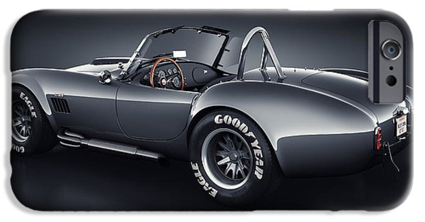 Old Cars iPhone Cases - Shelby Cobra 427 - Venom iPhone Case by Marc Orphanos