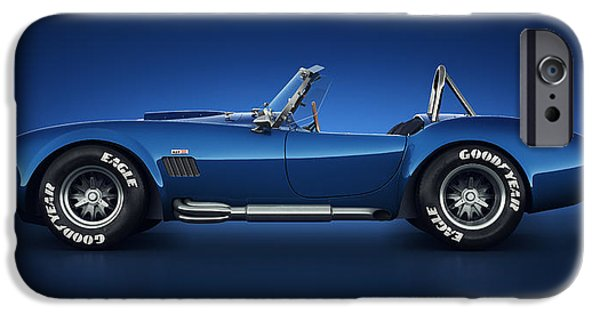 Old Cars iPhone Cases - Shelby Cobra 427 - Water Snake iPhone Case by Marc Orphanos