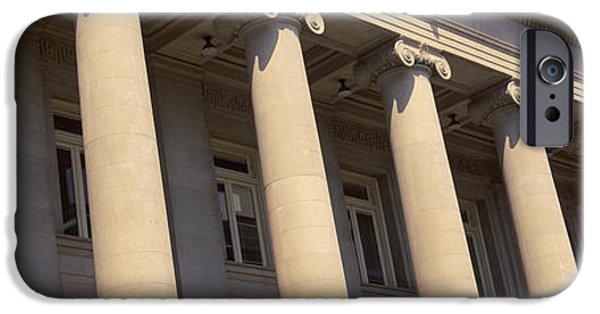 Tn iPhone Cases - Shelby County Courthouse Columns iPhone Case by Panoramic Images