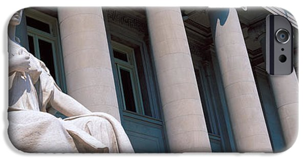 Figures iPhone Cases - Shelby County Courthouse Memphis Tn iPhone Case by Panoramic Images