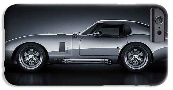 Old Cars iPhone Cases - Shelby Daytona - Bullet iPhone Case by Marc Orphanos