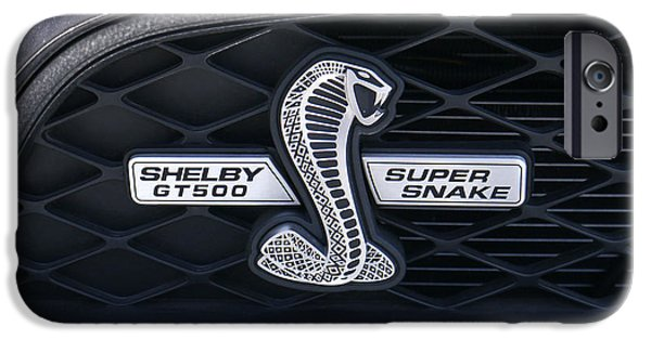 Carroll iPhone Cases - SHELBY GT 500 Super Snake iPhone Case by Mike McGlothlen