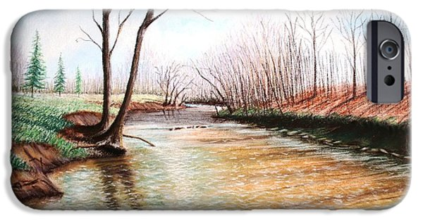 Painter Photo Pastels iPhone Cases - Shelby Stream iPhone Case by Stacy C Bottoms
