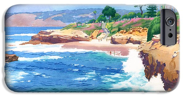 Coastal Paintings iPhone Cases - Shell Beach La Jolla iPhone Case by Mary Helmreich
