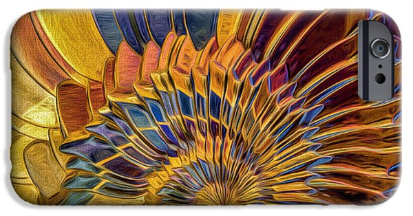 Generative iPhone Cases - Shell Explosion iPhone Case by Deborah Benoit