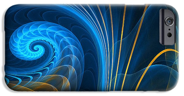 Blue Abstracts iPhone Cases - Shells Fragility iPhone Case by Lourry Legarde