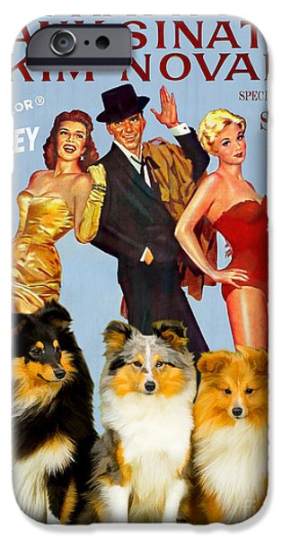 Sheltie iPhone Cases - Sheltie - Shetland Sheepdog Art Canvas Print - Pal Joey Movie Poster iPhone Case by Sandra Sij