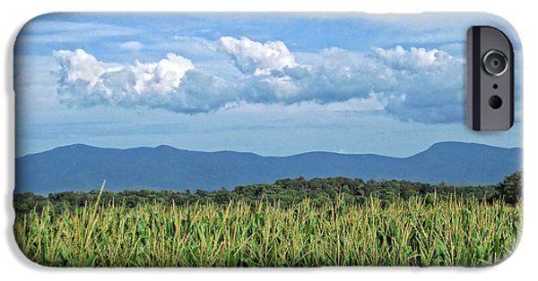 Field. Cloud iPhone Cases - Shenandoah Corn  iPhone Case by Lara Ellis