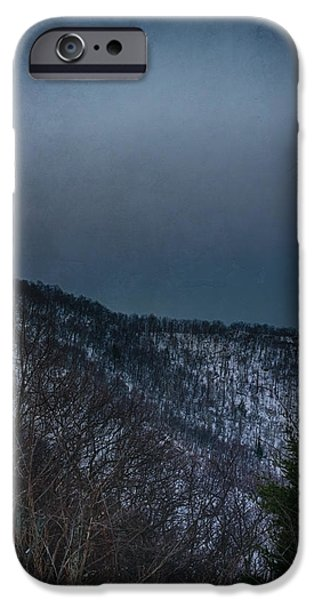 Morning iPhone Cases - Shenandoah Moonset iPhone Case by Joan Carroll