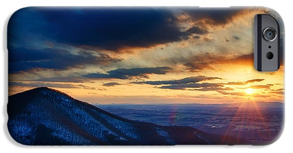 States iPhone Cases - Shenandoah Sunset iPhone Case by Joan Carroll