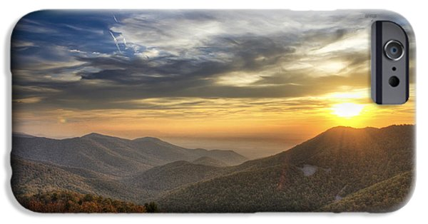 Scenic Drive iPhone Cases - Shenandoah Virginia sunset iPhone Case by Pierre Leclerc Photography