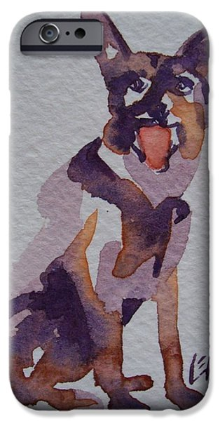 Police Art Drawings iPhone Cases - Shep iPhone Case by Larry Lerew