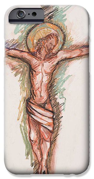 Crucifixtion iPhone Cases - Shepherd iPhone Case by Deryl Daniel Mackie