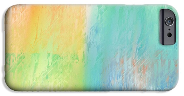 Abstract Digital iPhone Cases - Sherbet Abstract iPhone Case by Andee Design