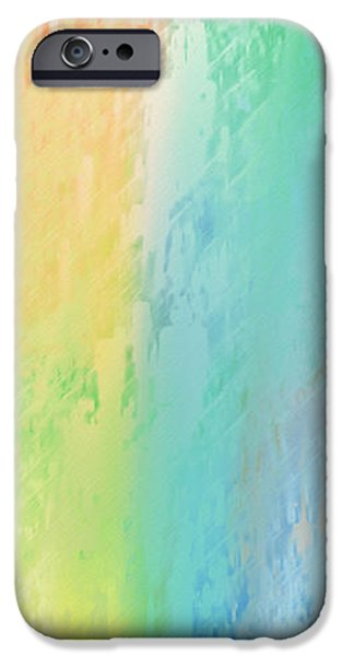 Sherbet Abstract iPhone Case by Andee Design