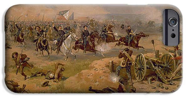 Attack iPhone Cases - Sheridans Final Charge at Winchester iPhone Case by American School