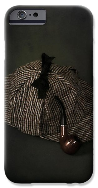 Edwardian iPhone Cases - Sherlock Holmes iPhone Case by Joana Kruse