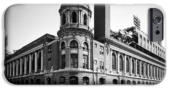 Shibe Park iPhone Cases - Shibe Park in black and white iPhone Case by Bill Cannon