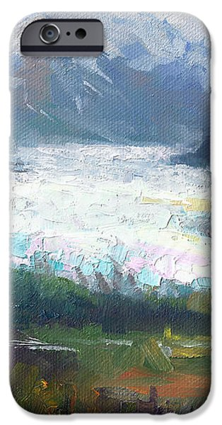 Shifting Light - Matanuska Glacier iPhone Case by Talya Johnson